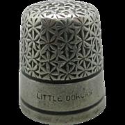'Little Dorcas' thimble. c 1920 Charles Horner.