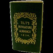 1854 Tilt's miniature almanac.