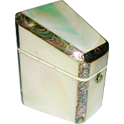 Mother of pearl needle packet box. c 1850