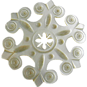 A fine Palais Royal snowflake thread winder. French c 1820