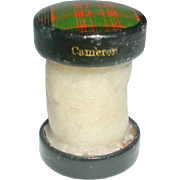 Cameron Tartan thread waxer. Victorian sewing accessory.