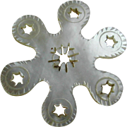A Palais Royal mother of pearl thread winder. c 1800