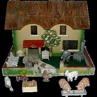 A charmingly naive English farm house.  1950 s