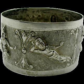 19th century napkin ring. Indian Raj.
