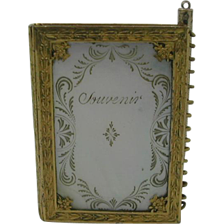 Palais Royal note book with knitting patterns. French c 1820