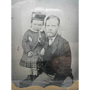 A daguerreotype of a Scots lad and father. 19thc