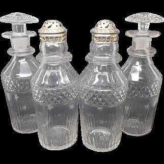 1825 hm.- A set of four Georgian bottles / castors.