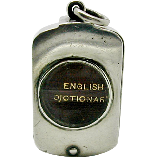 Sampson Mordan mini dictionary in silver box. HM London 1893.