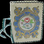 A pretty decorative card book for needles. c 1860
