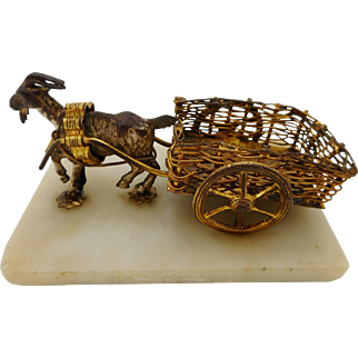 A novelty-a goat pulling a cart. French.  mid 19thc