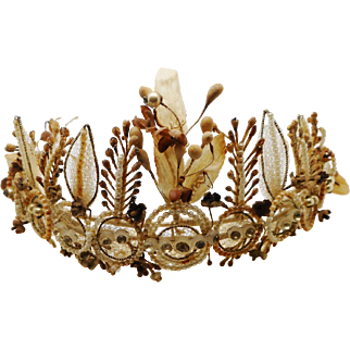 A beautiful French wedding tiara. c 1870