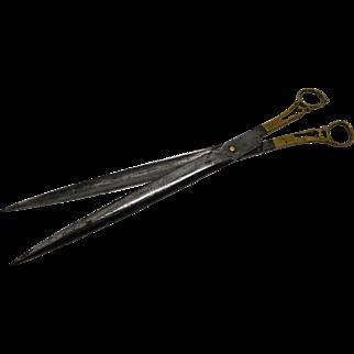 Pair of Ottoman hollow blade steel scissors. 19th century.