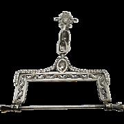 A Dutch silver spool knave.   19th century.