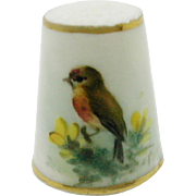 William Powell. A Worcester porcelain bird thimble. c 1931