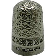 Edwardian Charles Horner silver thimble. Chester 1911.