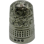 A Victorian Silver thimble. HM Chester 1900