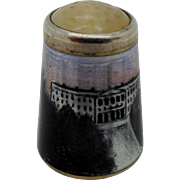 Norwegian enamel thimble. Commemorative.