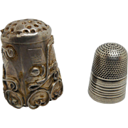 Very small child's silver thimble. c 1830