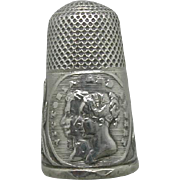 Reserved.               Queen Victoria and Prince Albert's Wedding thimble. c 1840