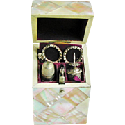 A fitted mother of pearl etui / sewing set. c 1850