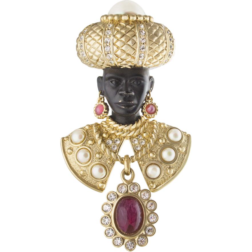 Bijoux Vintage Dior : Christian dior bijoux blackamoor brooch sold on ruby lane