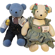 Collectable Bhrett Beartler  &  Scarlett O'Beara  Couple VIB Bears ( Retired )