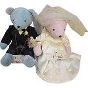 Collectable Tracy Spencerbear & Bride Elizabear Taylor North American Bear Co. V.I.B. Bears  ( Retired )