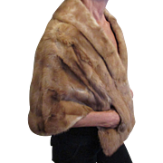 Soft luscious honey colored mink cape by The White House furs