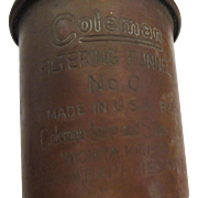 Vintage copper Coleman filtering funnel