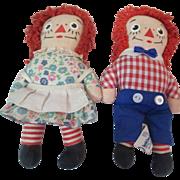 Miniature vintage Raggedy Ann & Andy