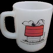 Vintage Snoopy Fire King coffee mug