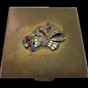 Volupte 1940's jeweled compact.