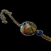 Elegant Cloisonne Swan pendant necklace