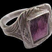 Ameythst 800 silver European Edwardian period ring