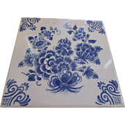 Collectable Delft Blue (Dutch) Delfts Blauw tile - Red Tag Sale Item