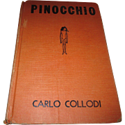 Early 1920's Pinocchio by Carlo Collodi hard back book