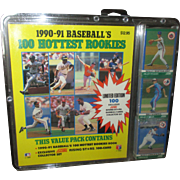 Collectable 1990-91 Baseball's 100 hottest rookies Limited Edition Cards