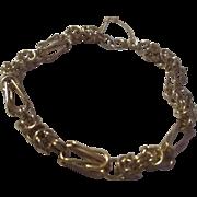 Fantastic Unique design 14k yellow gold 2 chain type charm bracelet