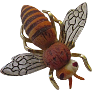 Vintage export honey bee brooch