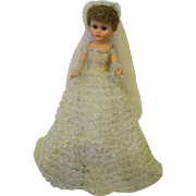 "Vintage beautiful bride doll 25"" tall"