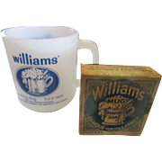 Vintage Williams shaving mug, and Williams mug shaving soap