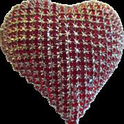 Dorothy Bauer Swarvoski Beautiful heart heart brooch