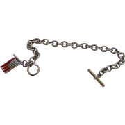 Sterling silver charm bracelet chain.
