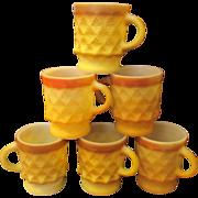 Vintage Fire King Kimberly coffee mugs