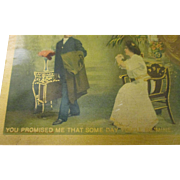 Romantic 1909-1910 postcards Art Noveau