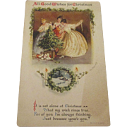 Christmas card 1919 lithograph by Wolf & Co.