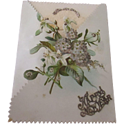 Unbelievably unique Victorian love note New Years card