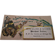 Victorian business card highly lithograph ( Merchant Tailors )
