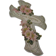 Victorian large Easter greetings die cut.