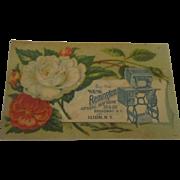 Victorian lithograph advertisement Remington sewing machine card.